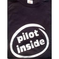 """T-Shirt """"PILOT INSIDE""""  Nera Unisex"""