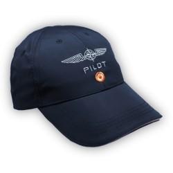 Cappellino  Design4Pilots Microfibra BLU