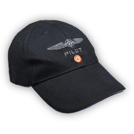 Pilot Caps CottonDesign4Pilots  BLACK