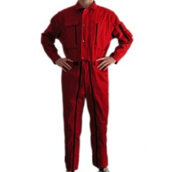 FLIGHT SUIT IN COTTON RED O BLACK