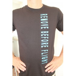 "T-Shirt ""REMOVE BEFORE FLIGHT ""Nero  Unisex"