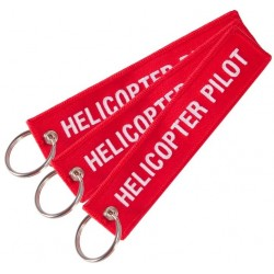 Key Ring Helicopter Pilot